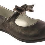 kahve rengi fiyonklu kız çocuk ayakkabı modeli