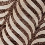 kahve renkli yaprak desenli 2013 yeni bahariye halı modelleri örnekleri