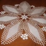 kanser desenli çiçekli şık motifli dantel sehpa takımı modeli