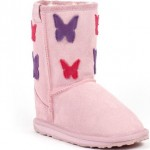 kelebekli pembe renkli ugg kız çocuk bot modeli