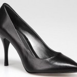 kiffa siyah ince topuklu hotiç bayan ayakkabı modeli