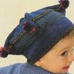 lacivert erkek çocuk şapka modeli