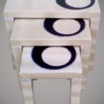 lacivert halka desenli beyaz lakeli muhteşem 2013 zigon sehpa modeli