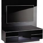 lakeli siyah renkli lcd tv ünite sehpa modeli