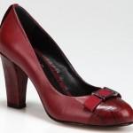 mükemmel kırmızı renkli hotiç bayan ayakkabı modeli