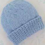 mavi bebek örgü bere örnekleri