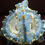 mavi beyaz sarı kına sepeti modeli