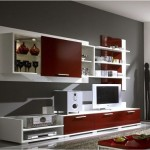 modern lakeli lcd tv ünite sehpa modeli