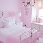 modern yeni şık tasarımlı eskitme başlıklı kız çocuk odası modelleri