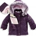 mor yakası kürklü 2013 kışlık kız çocuk mont modeli
