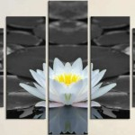 muhteşem  tek çiçek görüntülü kanvas tablo modelleri