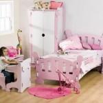 nostajik şekilli şık rahat konforlu kız çocuk odası takımı modelleri
