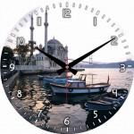 ortaköy camisi baskılı duvar saati modeli