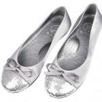 panço gümüş pullu kız çocuk ayakkabı modeli