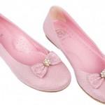 panço pembe fiyoklu taşlı kız çocuk ayakkabı modeli