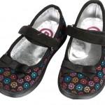 panco çiçek baskılı kız çocuk ayakkabı modeli