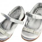 panco gri fiyonklu kız çocuk ayakkabı modeli