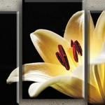 parçalı çiçek figürlü kanvas tablo çeşitleri modelleri