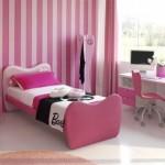 pembe renkli barbi tasarımlı kız çocuk odası modelleri