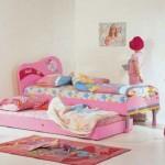 pembe renkli iki yataklı sade ama kullanışlı kız çocuk odası takımları modelleri