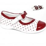 puantiyeli şık kız çocuk ayakkabı modeli