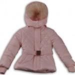pudra renkli kürklü kışlık kız çocuk mont modeli
