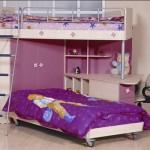 sade kullanışlı dar alanlar için kız çocuk odası modelleri