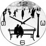 sevgililer için dekoratif duvar saat modeli