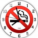 sigara içilmez logolu dekoratif duvar saat modeli