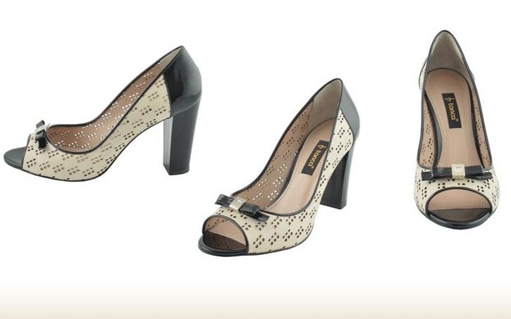siyah beyaz fantazi delikli fiyonklu yazlık kemal tanca ayakkabı modeli
