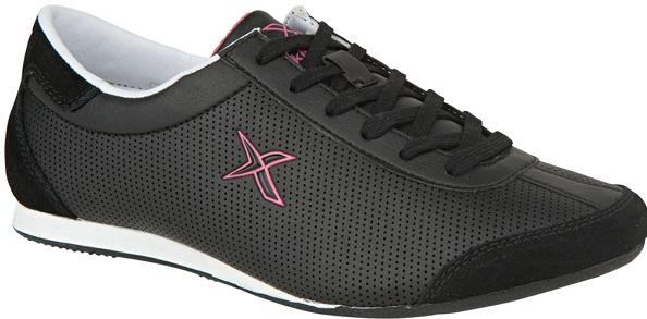 siyah beyaz fuşya delikli kinetix spor bayan ayakkabı modeli