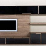 siyah cam kapaklı lcd tv ünite sehpa modeli