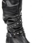 siyah demir zımbalı kız çocuk bot modeli