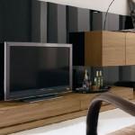 siyah kahve renkli  2013 lcd tv ünite sehpa modeli