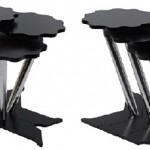 siyah krom ayaklı bulut şekilli 2013 zigon sehpa modeli