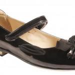 siyah kurdale fiyonklu kız çocuk ayakkabı modeli