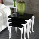 siyah lake beyaz bacaklı modern 2013 zigon sehpa modeli