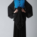 siyah mavi renkli Armine Abiye Modeli
