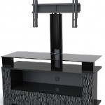 siyah renkli aparatlı tv sehpa modeli