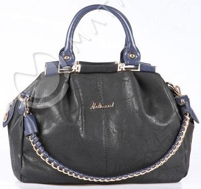 siyah zincirli yeni trend matmazel bayan çanta modeli