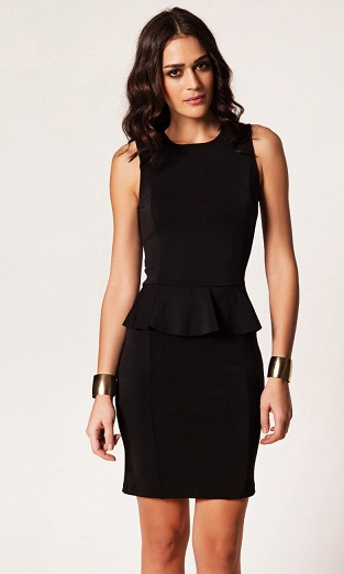 straplez kalıplı siyah modern yeni 2013 afrodit bayan elbise modeli