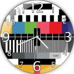 test yayını görüntülü dekoratif duvar saat modeli