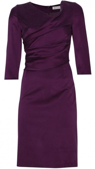 vakko mor renkli kışlık bayan elbise modeli
