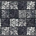 yaprak desenli seramoni sanat halı modeli