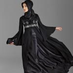 siyah ispanyol kol ve etekli Armine Abiye Modeli