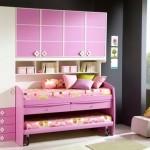 yeni şık kullanışlı çift yataklı dolaplı kız çocuk odası modelleri 2013 tasarımları