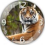 yeni kaplanlı dekoratif duvar saat modeli