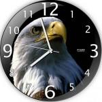 yeni kartallı dekoratif duvar saat modeli