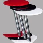 yeni lakeli kırmızı beyaz siyah renkli yuvarlak 2013 zigon sehpa modeli