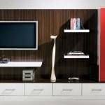 zarif kırmızı kapaklı  2013 lcd tv ünite sehpa modeli